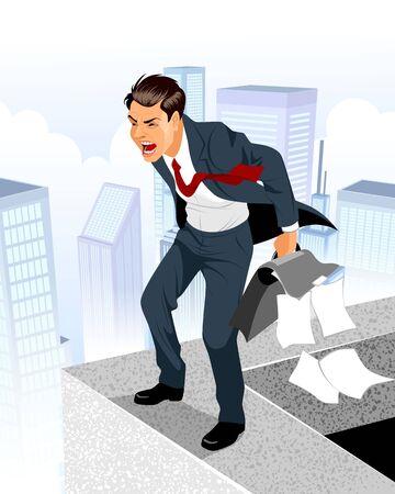 Vector illustration of a businessman in despair Illustration