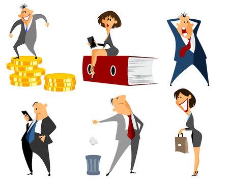 illustration vector: Vector illustration of a six profession people Illustration