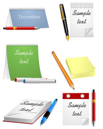 office supplies: Vector illustration of office supplies set Illustration