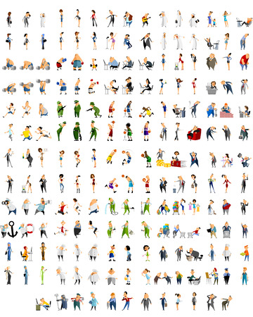 infantry: illustration of a 192 characters set