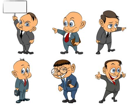 indicative: Vector illustration of a six businessmen set