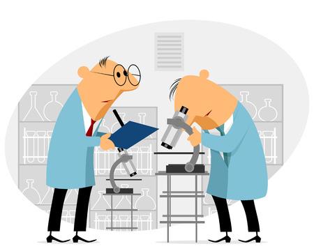 scientific experiment: illustration of a big scientific experiment Illustration