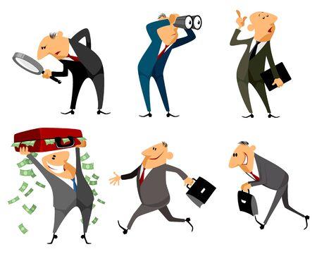 indicative: illustration of a six businessmen set Illustration