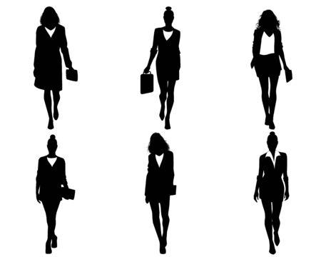 Illustration eines sechs Geschäftsfrauen gehen