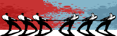 Illustration concept of competition in business Illustration