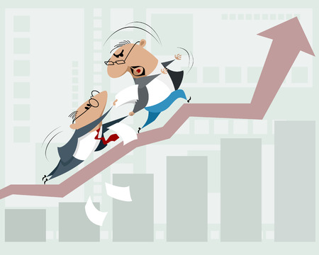 Vector illustration of obstacles for business growth