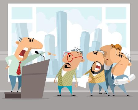 Vector illustration of a noisy working speech.