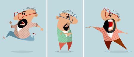 Cartoon caricature man image illustration Ilustração