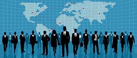 Vector illustration of a global international business