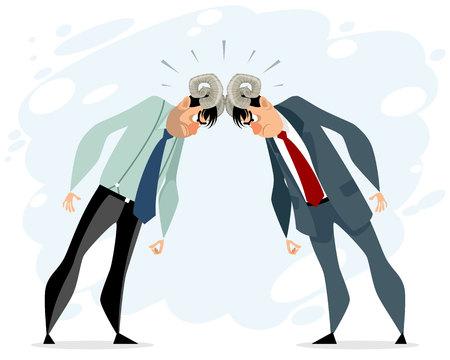 Ilustración de vector de dos hombres en conflicto