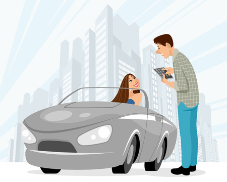 Vector illustration of dating of man and woman Stock Illustratie
