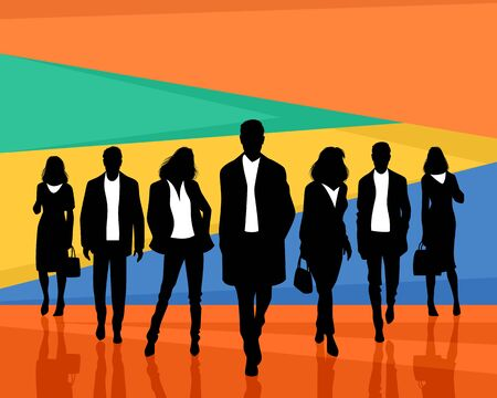 Vector illustration of team of business people