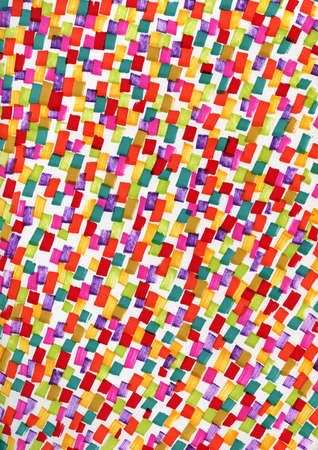 Abstract background with multicolored spots. Stylish youth bright background with marker prints. Rhythmic pulsating background suitable for posters and invitations to parties.