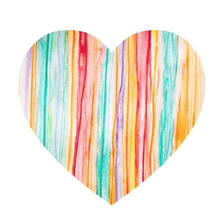 Abstract colorful watercolor horizontal background with vertical stripes. Spring, summer, sunny background with multi-colored stripes for wedding invitations and St. Valentines Day. 版權商用圖片