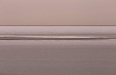 Infinite salty lake in the North of Tunisia Stock Photo