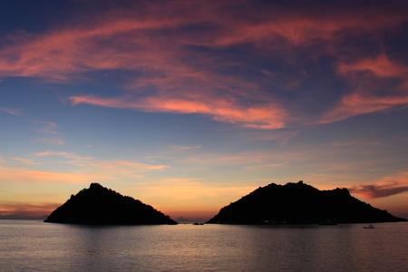 nangyuan: sunset koh nangyuan Thailand