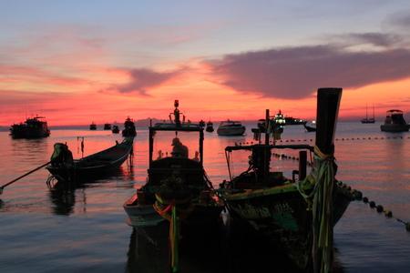 koh tao: sunset koh tao Thailand Stock Photo