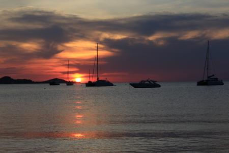 'koh samui': sunset koh samui Thailand Stock Photo