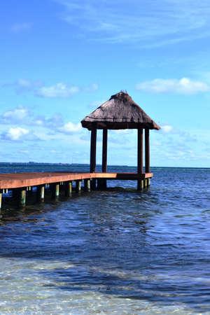 palapa: Palapa on the sea