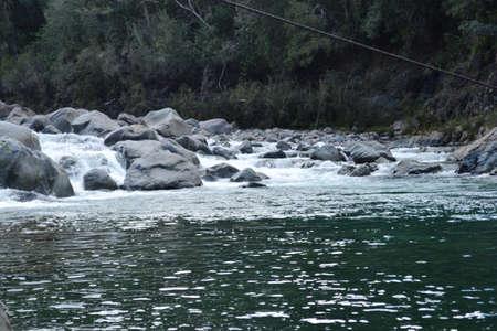 rushing water: river view