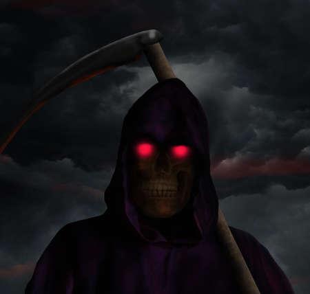 guadaña: la muerte en una noche de tormenta