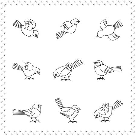 set of birds Vector