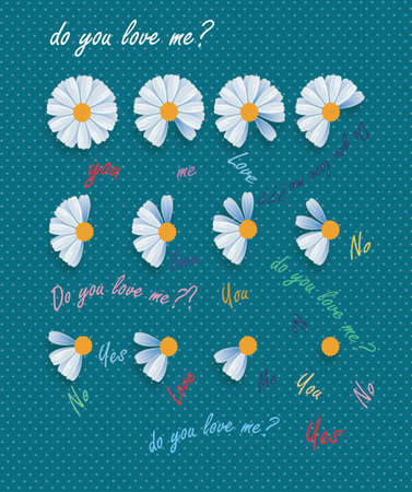 daisy flowers background with  romantic text