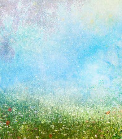 Sfondo di un campo in un tempo di primavera Archivio Fotografico - 35597884