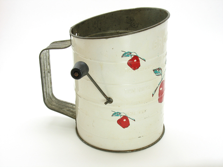 sifter: Antique Flour Sifter