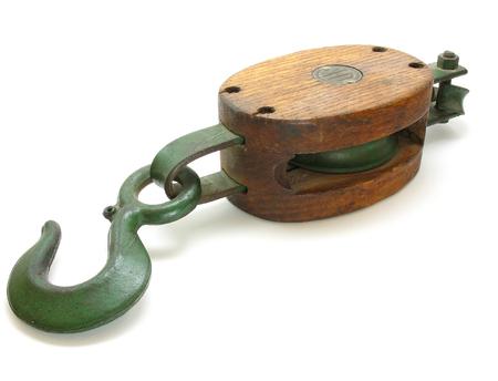 pulley: Anticuarios gancho y polea