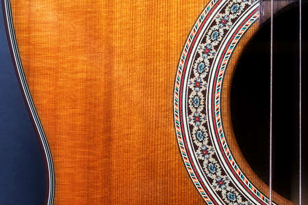 detail of a classical guitar Stock Photo