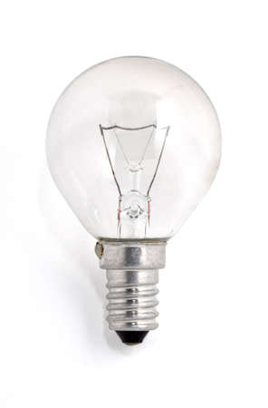 a light bulb turned off on a white background