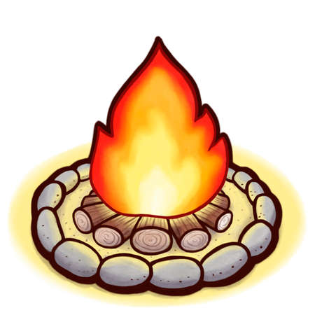 Drawing of a bonfire Stock Photo - 103146570