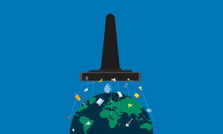 clean earth day. detroy the garbage from planet. vector illustration eps10 Ilustrace