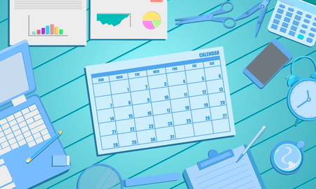 schedule calendar appointment for business marketing concept. vector illustration eps10