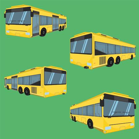 3d the bus driver fare passenger autobus omnibus coach rail bench chair stool armchair seat mattress bolster hassock pad vector illustration