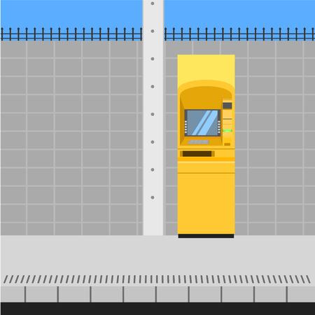 thai atm bank yellow service  vector illustration