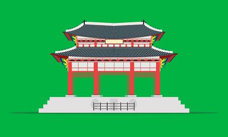 gwanghwamun square gate gyeongbokgung palace in seoul south korea vector illustration eps10