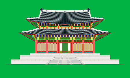 changedoekgung palace in seoul south korea vector illustration eps10 Imagens - 122253952