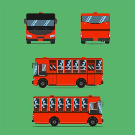 thai dark orange bus transport car vehicle driver fare passenger autobus omnibus coach rail bench chair stool armchair seat mattress bolster hassock pad vector illustration