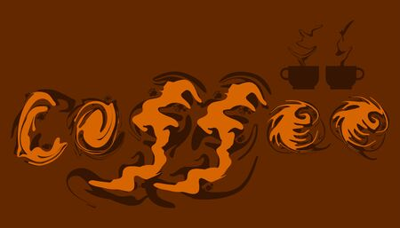 abstract liquid element coffee creams character. take a break with your favorite drink.  vector illustration eps10
