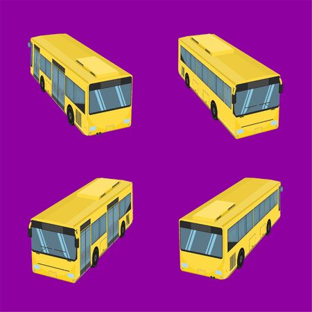 3d top view the bus driver fare passenger autobus omnibus coach rail bench chair stool armchair seat mattress bolster hassock pad vector illustration eps10 Illustration
