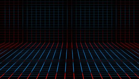abstract tilted line plaid industrial blue and red color. vector illustration eps10