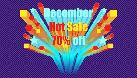 december hot sale 70% off effect blend retro style.  plaid dark blue color background style. vector illustration eps10