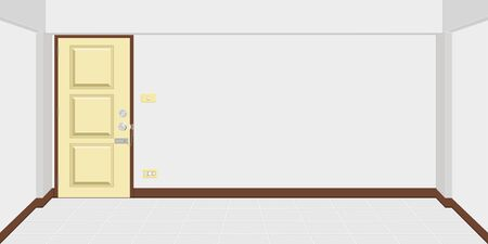architecture inside apartment or house room. vector illustration eps10