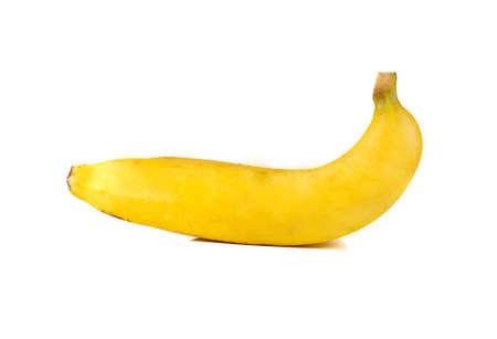 banana skin: Banana isolated on white background Stock Photo