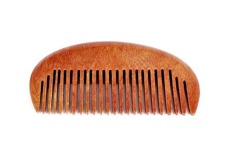 close up isolated: comb close up isolated on white background Stock Photo