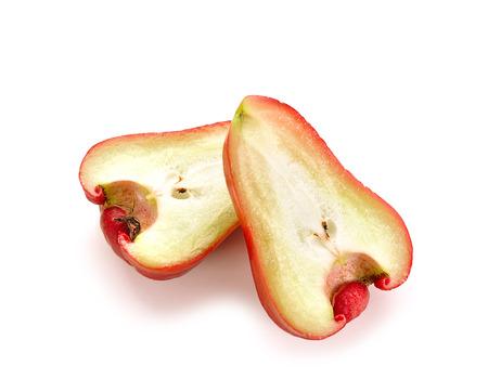 chomp: rose apples isolated on white background
