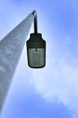 lamp post: lamp post and sky background Stock Photo