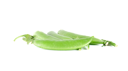 pea pod: peas close up on white background
